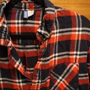 H&M red/navy flannel